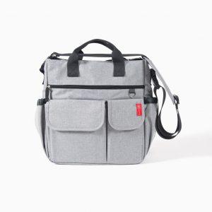 Bolso compartimentos gris