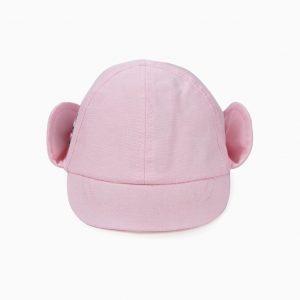 Gorro con orejas rosa