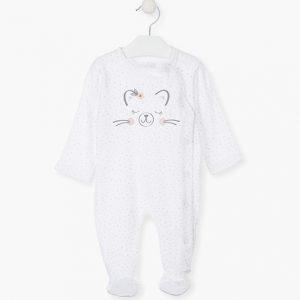 Pijama algodón orgánico cat