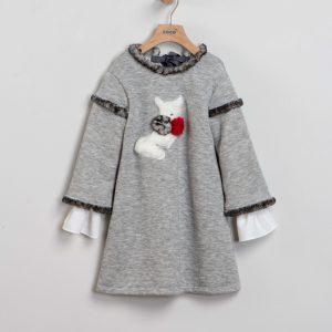 Vestido gris rabbit