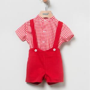 Conjunto peto y camisa red vichy