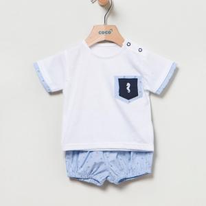 Conjunto de short y camiseta anclas