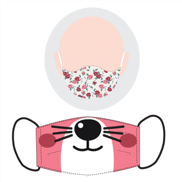 Mascarilla infantil gatito (pack de 2)
