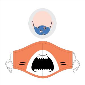 Mascarilla infantil tiburón (pack de 2)