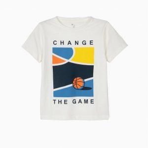 Camiseta bastketball blanca
