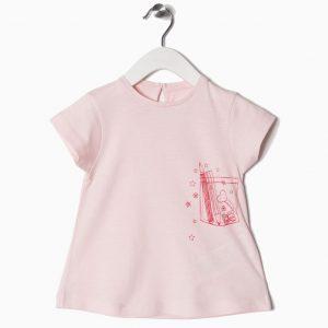 Camiseta básica bebé bolsillo