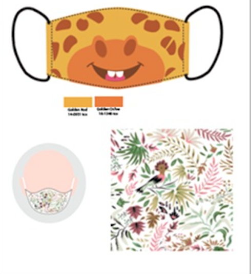 Mascarilla infantil jirafa (pack de 2)