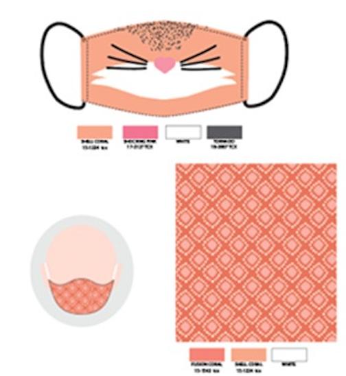 Mascarilla infantil conejito (pack de 2)