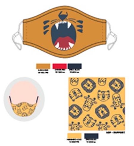 Mascarilla infantil león (pack de 2)