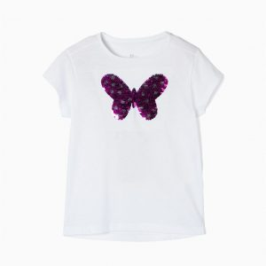 Camiseta mariposa lentejuelas