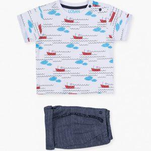 Conjunto bermuda y camiseta little boat