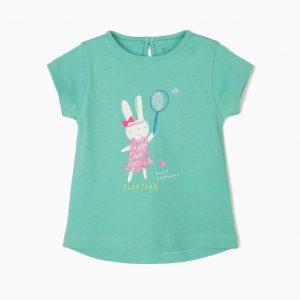 Camiseta play park verde jade bebé
