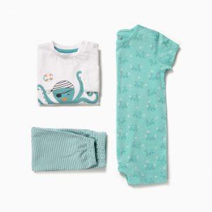 Pack de pijama y pelele Octopus