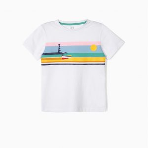 Camiseta sunset boat