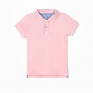 Polo piqué rosa (bebé y niño)