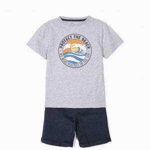 Conjunto camiseta y pantalón marino Protect beachs