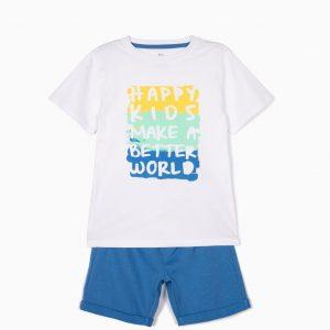 Conjunto camiseta y pantalón happy bebé