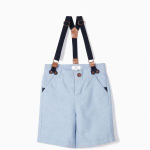 Short azul con tirantes