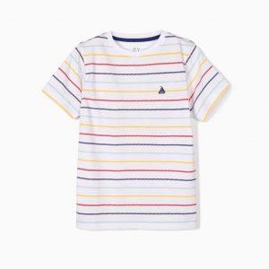 Camiseta bebé a rayas marinera