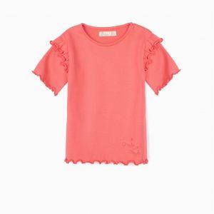 Camiseta coral de canalé