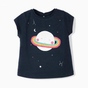 Camiseta saturno bebé