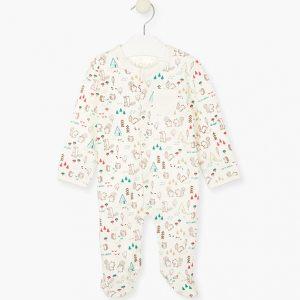 Pijama con estampado montañero