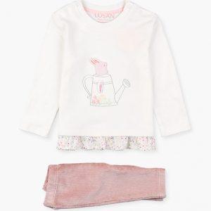 Conjunto camiseta y pantalón de pana garden