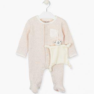 Pijama rosita a rayas con muñeco