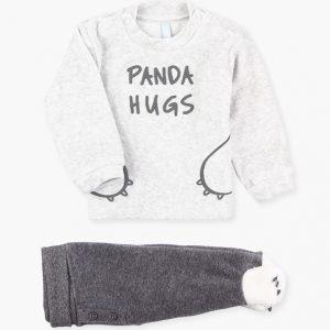Conjunto de sudadera y pantalón panda hugs