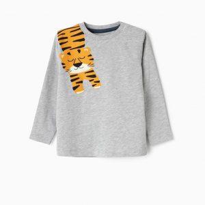 Camiseta tiger gris