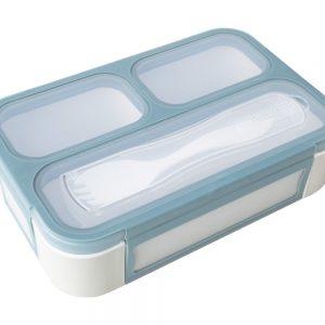 Caja de almuerzo compartimentos Bento azul