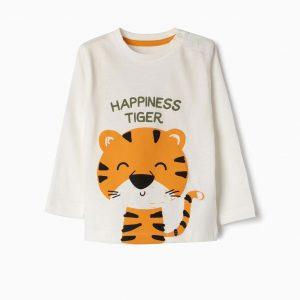Camiseta happiness tiger
