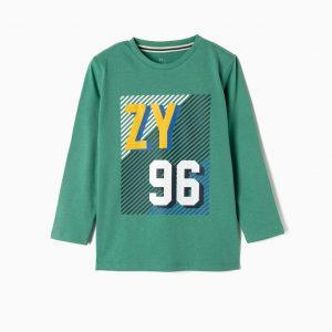 Camiseta ZY96 verde niño