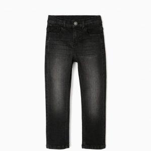 Pantalón denim confort basic niño negro