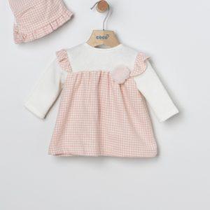 vestido pata gallo rosa