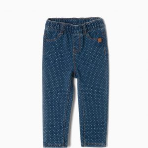 Jegging confort denim topos bebé