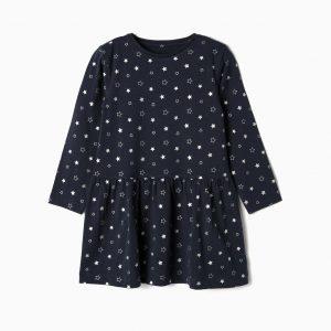 Vestido de algodón niña estrellas