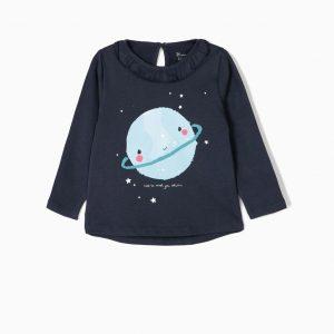 Camiseta saturno manga larga