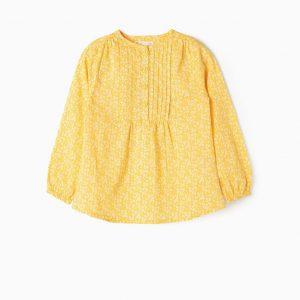 Blusa amarilla suave flores