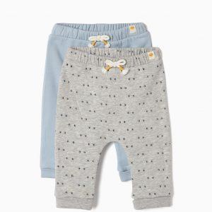 Pack de pantalones gris / azul smile