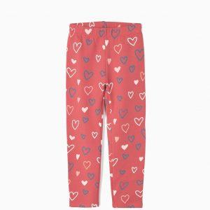 Leggings corazones rosa