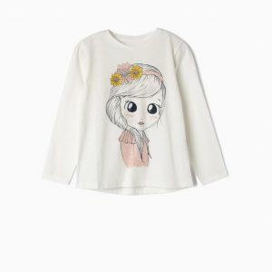 Camiseta flower girl