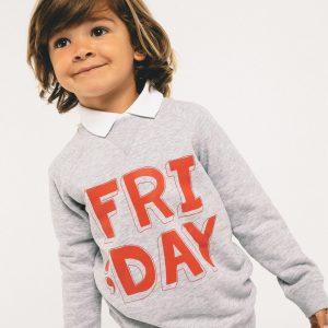 Sudadera Friday gris