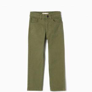 Pantalón regular fit verde