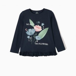Camiseta no rain, no flowers niña