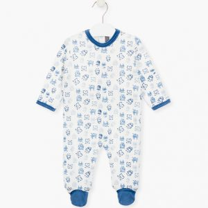 Pijama de terciopelo monstruitos (azul o gris)