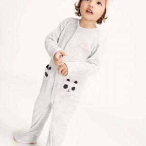 Pijama de terciopelo oso panda