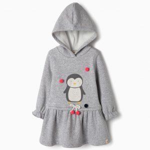 Vestido con capucha pingüino
