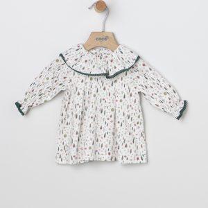 Vestido estampado bosque para niña