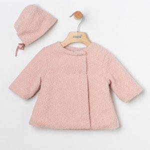 Abrigo borreguito rosa